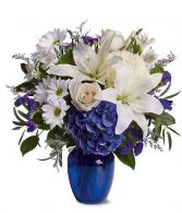 Ultra blue Floral arrangement