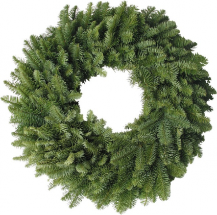 Plain Noble Fir Wreath (16