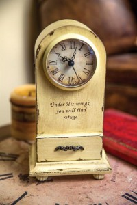 Under His Wings Table Clock