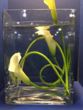 Underwater Callas Wedding Centerpiece