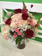 Undying Love mixed vase in Gibsonton, Florida | Oops a Daisy LLC
