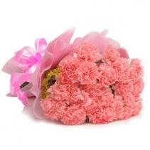 Unforgettable beauty carnation Hand tied bouquet