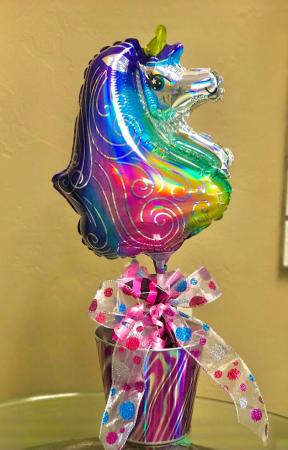 Unicorn Balloon Candy  Bucket
