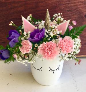 Unicorn Love Mug fresh flowers in Lakeside, CA | Finest City Florist