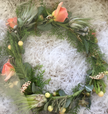 Unique Airplant wreath Hairpiece