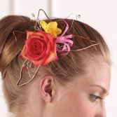 Unique Hair Piece  Graduation Flowers to Wear