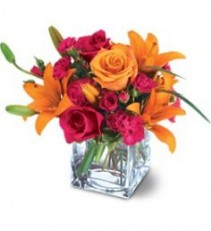 Uniquely Chic Bouquet  Mixture of orange and pink