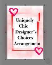 Uniquely Chic Designers Choice fresh flowers
