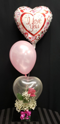 Up & Away - Real rose in a balloon