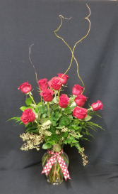 Upgraded Dozen Rose Arrangement