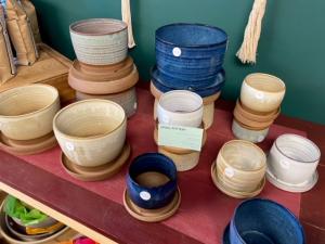 Uphill Pottery Plant Pots Pottery in Hardwick, VT | THE FLOWER BASKET