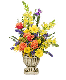 UPLIFTING FLORAL URN Arrangement