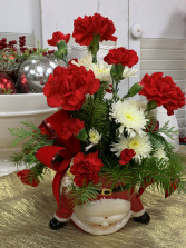 Upside Down Santa Christmas Arrangement