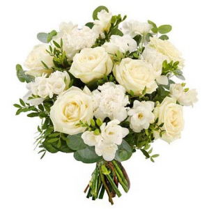 Upsy Daisy Signature All White  Hand-tied in Port Dover, ON | Upsy Daisy Floral Studio