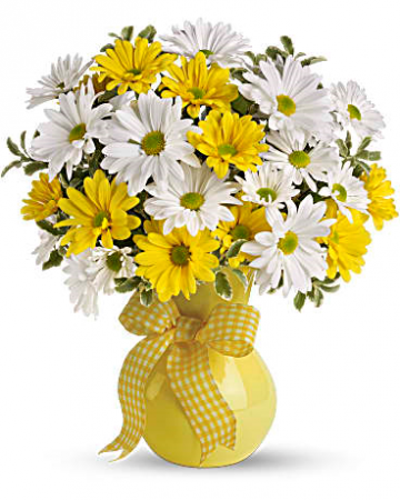 Upsy Daisy Vase Arrangement In Cabot Ar Petals Plants Inc