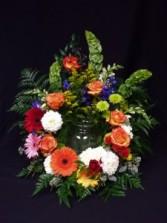 Urn Flowers Funeral Flowers- 3D Signature Design