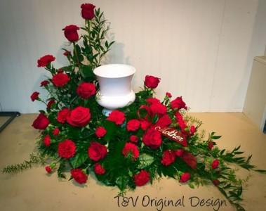 Urn Memorial Wreath T&V Exclusive