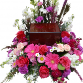 Fond Farewell Funeral Arrangement to surround an urn or box