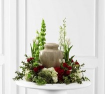 Urn Wreath Cremation & Memorial Flowers (Urn not included)