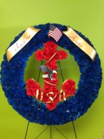 USN memorial Silk Wreath