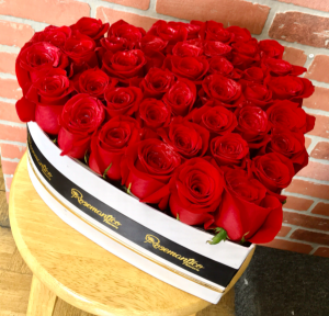 Heart Box With Premium Roses  in Whittier, CA | Rosemantico Flowers