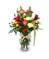 AN ESSENCE OF AUTUMN Vase of Flowers