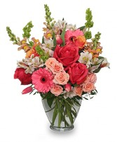 Cherish Spring Vase of Flowers