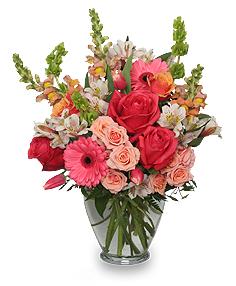 Cherish Spring Vase of Flowers