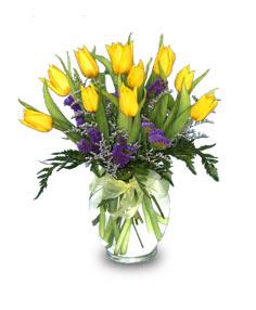 SUNNY TULIPS Flower Vase