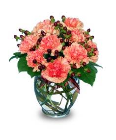 ORANGE CRUSH!  Flower Vase