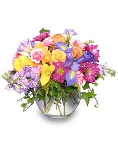 SPRINGTIME POTPOURRI of Fresh Flowers