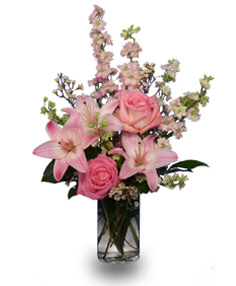PRECIOUS PINK ARRIVAL Flowers for Baby Girl in Ventura, CA | Mom And Pop Flower Shop