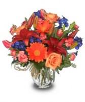 A CHANGE OF SEASONS Vase of Flowers