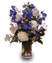 BLUE & WHITE IT'S A BOY Flower Vase