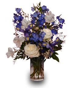 BLUE & WHITE IT'S A BOY Flower Vase