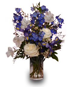 Blue White It S A Boy Flower Vase