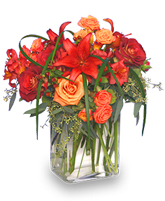 CASCADING SPLENDOR Flower Arrangement in Hillsboro, OR | FLOWERS BY BURKHARDT'S