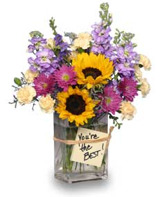 YOU'RE THE BEST! Arrangement in Bloomington, IN | MARY M'S WALNUT HOUSE FLOWERS AND GIFTS