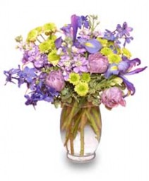 LAVENDER 'N LIME Vase of Flowers