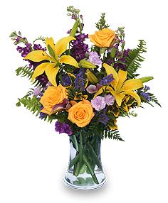 STELLAR YELLOW Flower Arrangement in Mcminnville, OR   POSEYLAND FLORIST