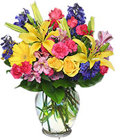 RAINBOW OF BLOOMS Vase of Flowers in Gladewater, Texas | Gladewater Flowers & More