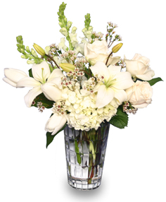 LET IT SNOW!  with Fresh Flowers in Spring Green, WI | Prairie Flowers & Gifts