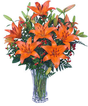 AUTUMN VIBRANCE Lily Arrangement in Hobbs, NM | MARIA'S FLOWERS & FASHION