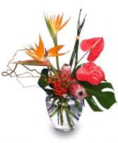EXOTIC FLORAL VASE of Fresh Flowers