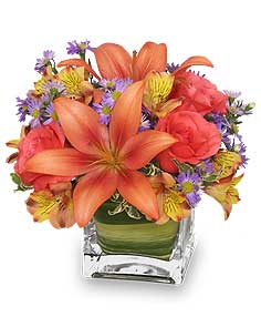 Friendly Fall Bouquet Flower Arrangement in Lewiston, ME | BLAIS FLOWERS & GARDEN CENTER