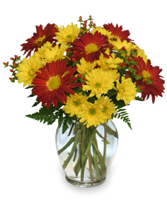 Fall flower arrangements buckets fresh flower market abbotsford bc red rover yellow daisy bouquet of flowers in abbotsford bc buckets fresh flower mightylinksfo Gallery