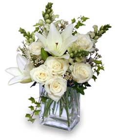 Wonderful White Bouquet of Flowers in Calgary, AB | BEST OF BUDS