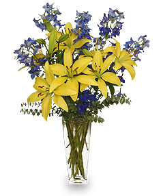 BLUE BONNET Floral Arrangement in Richland, WA | ARLENE'S FLOWERS AND GIFTS