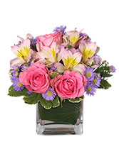PRETTY AS YOU PLEASE Vase of Flowers