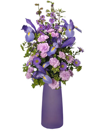 LYRICAL LAVENDER Vase of Flowers